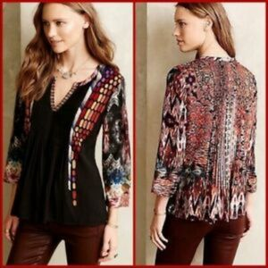 Stunningly colorful flowy blouse